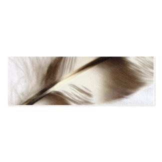 Señal de la pluma plantilla de tarjeta de visita