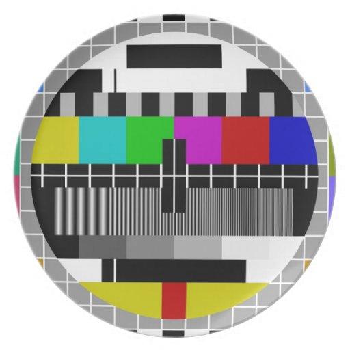 Señal de la prueba de PAL TV Platos