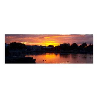 Señal de la puesta del sol de Galway Tarjetas De Visita Mini
