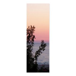 Señal de la puesta del sol del lago Michigan Tarjetas Personales