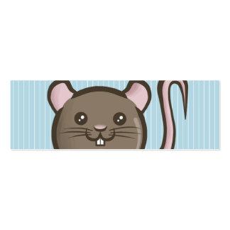 Señal de la rata de Chibi Tarjetas De Visita Mini