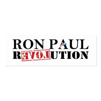 Señal de la revolución de Ron Paul Tarjetas De Visita Mini