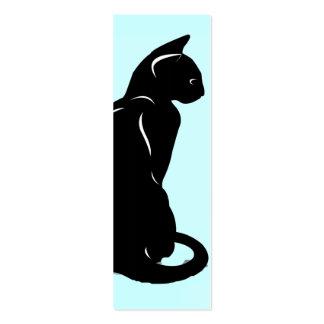 Señal de la silueta del gato tarjetas de visita mini