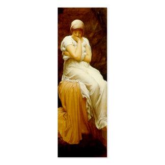 Señal de la soledad de señor Leighton de Frederick Tarjetas De Visita Mini