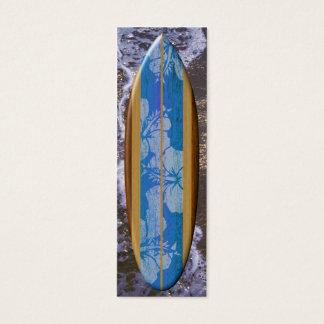 Señal de la tabla hawaiana de Haleiwa Tarjetas De Visita Mini