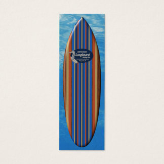Señal de la tabla hawaiana de la tubería tarjetas de visita mini