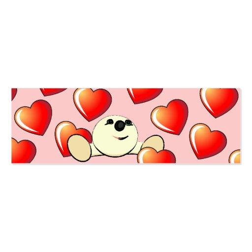 Señal de la tarjeta del día de San Valentín Tarjetas De Negocios