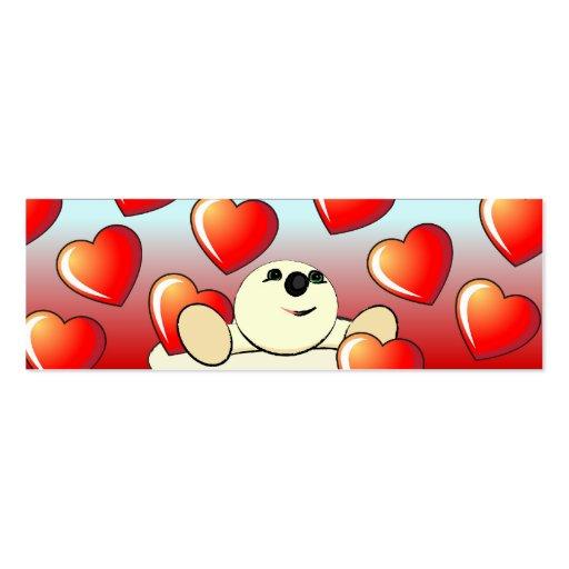 Señal de la tarjeta del día de San Valentín Tarjeta Personal