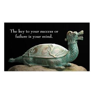 Señal de la tortuga del dragón tarjetas de visita
