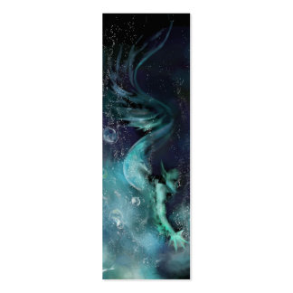 Señal de las aguas azules tarjetas de visita mini