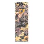 Señal de las hojas de otoño plantilla de tarjeta de negocio