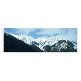 Señal de las montañas de la naturaleza tarjetas de visita mini