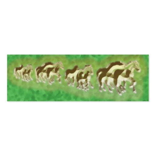Señal de los caballos plantilla de tarjeta personal