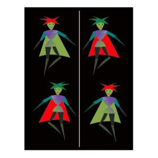 Señal de los duendes del baile tarjetas postales