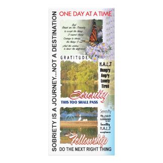 señal de los lemas del aa tarjeta publicitaria a todo color
