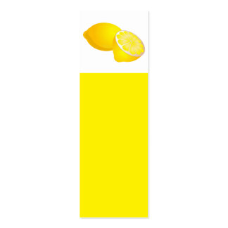 Señal de los limones tarjetas de visita mini