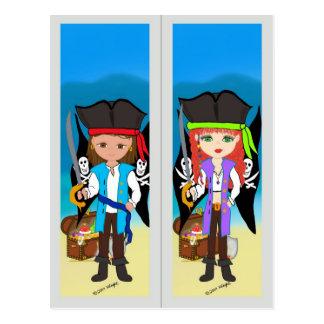 Señal de los piratas en la postal