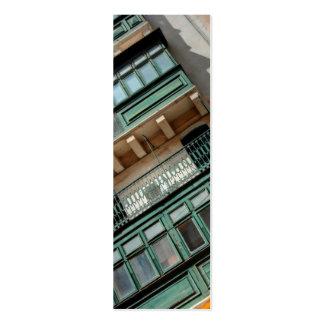 Señal de Malta del balcón Tarjetas De Visita Mini
