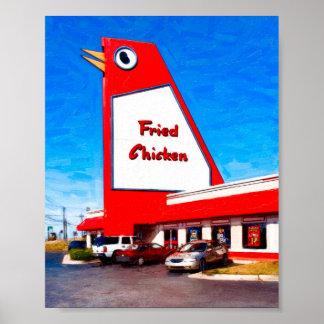 Señal de Marietta - el pollo grande - 8x6 archival Posters