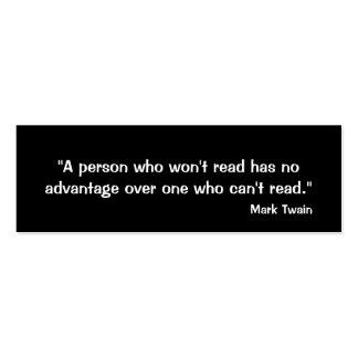 Señal de Mark Twain Tarjetas De Visita Mini