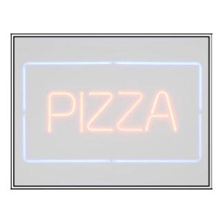 """Señal de neón azul y roja de la PIZZA Folleto 8.5"""" X 11"""""""