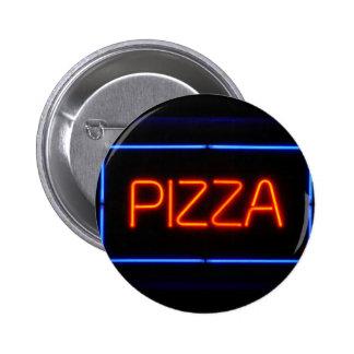 Señal de neón azul y roja de la PIZZA Pins