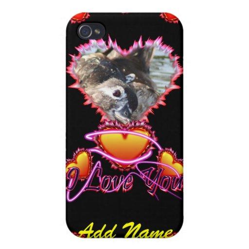 Señal de neón de 3 corazones te amo iPhone 4 cobertura