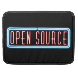Señal de neón de Open Source Funda Para Macbook Pro