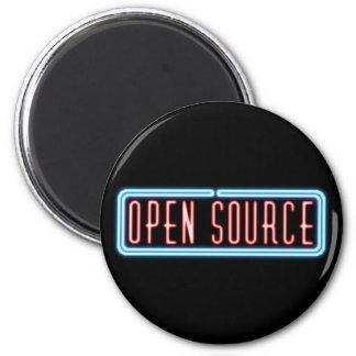 Señal de neón de Open Source Imán Redondo 5 Cm