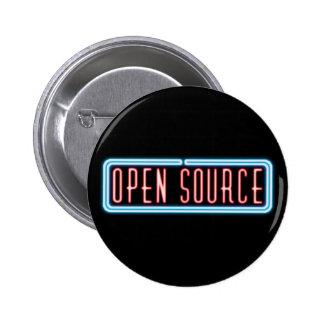 Señal de neón de Open Source Pin Redondo 5 Cm