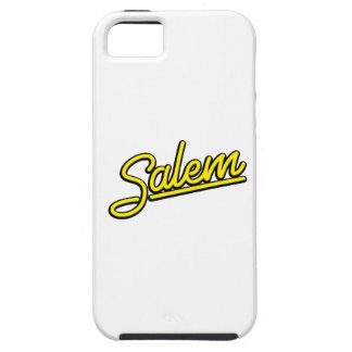 Señal de neón de Salem en amarillo Funda Para iPhone SE/5/5s
