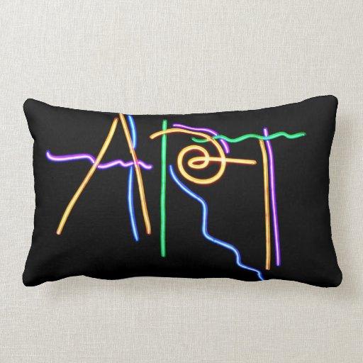 Señal de neón del arte almohadas