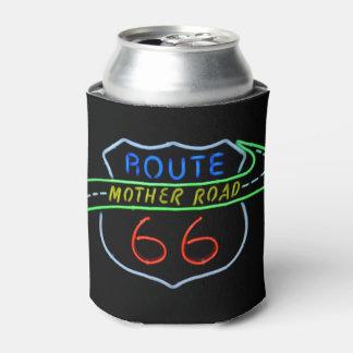 Señal de neón del camino de la madre de la ruta 66 enfriador de latas