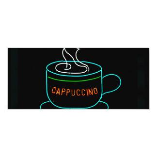 Señal de neón del Cappuccino Invitación 10,1 X 23,5 Cm