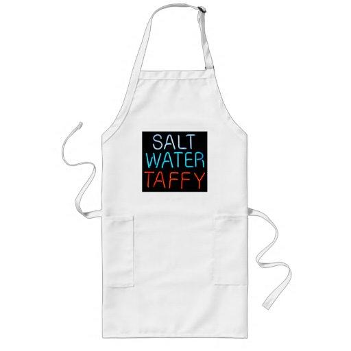 Señal de neón del chicloso del agua salada delantales