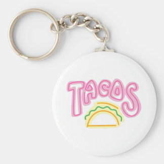 Señal de neón del Tacos Llavero