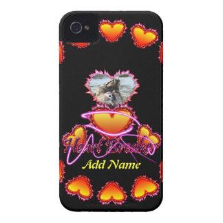 Señal de neón del triturador del corazón de 3 iPhone 4 funda