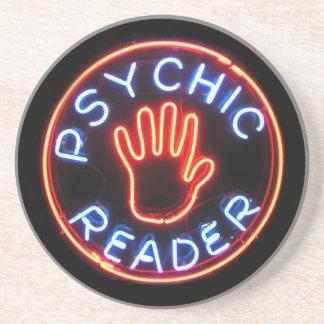 Señal de neón psíquica del lector posavasos personalizados