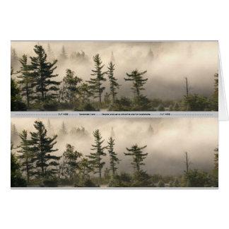 Señal de niebla del prado de la montaña tarjeta pequeña
