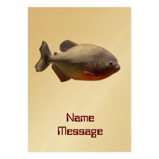 Señal de oro de la tarjeta de los pescados tarjetas de visita grandes