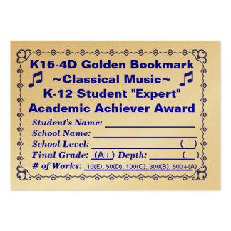 Señal de oro Music~ ~Classical 100ct de K16-4D Plantillas De Tarjetas Personales