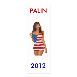 Señal de Palin 2012 Tarjeta De Visita