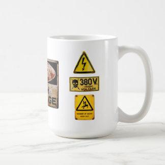 Señal de peligro 005 taza de café