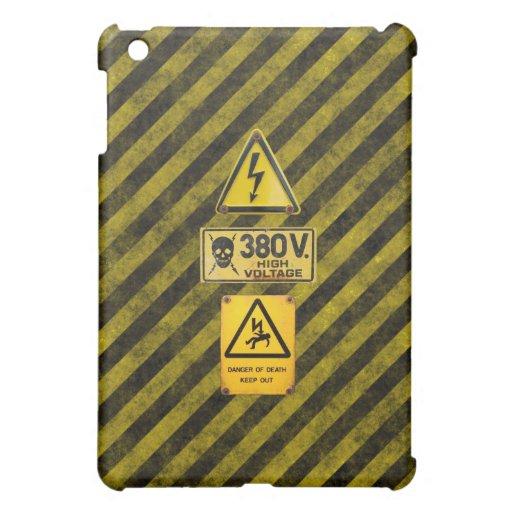 Señal de peligro de alto voltaje 380 iPad mini cárcasa