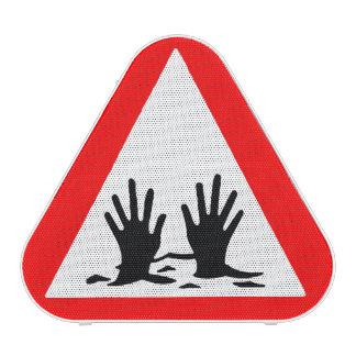 Señal de peligro de la arena movediza altavoz bluetooth