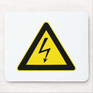 Señal de peligro de la electricidad alfombrilla de raton