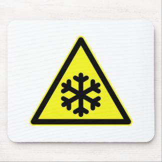 Señal de peligro de la nieve tapetes de raton