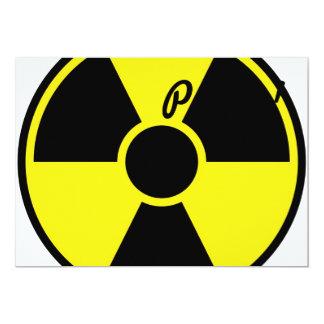 """Señal de peligro de la radiación invitación 5"""" x 7"""""""