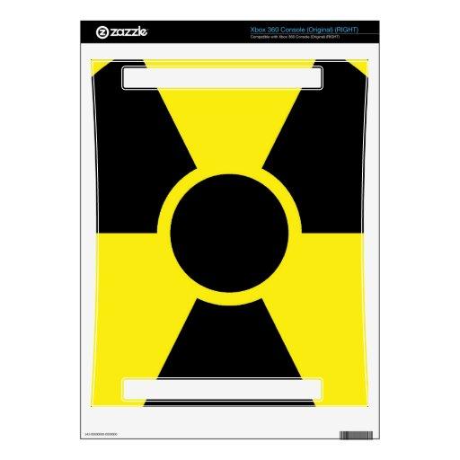 Señal de peligro de la radiación xbox 360 skins