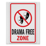 Señal de peligro de la zona franca del drama posters